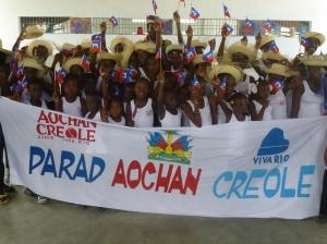 Les enfants de la troupe Aochan Creole de Viva Rio